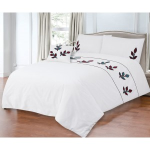 100% Cotton Satin King Bed sheet+Duvet Cover With Two Pillow Cover AIT-10035