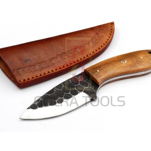 Custom Made 1095 Steel Hunting Knife With Stunning File Work On The Blade GT--4347