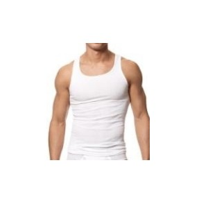 Mens  Inner T-Shirt U-Neck  White Model No. TSI­-2217
