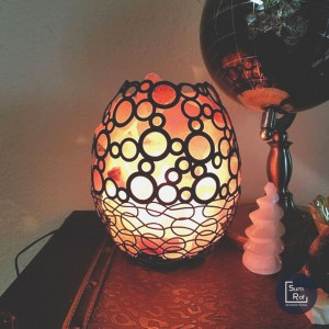 Round Metal Basket Himalayan Salt Lamp Model No. SL-25