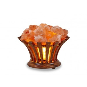 Natural Himalayan Wood Basket Salt Lamp Model No.  SL-08