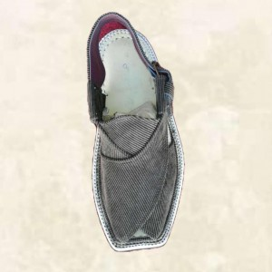 Gent balouchi chappal traditional Hand stitched GREY GHZ  001