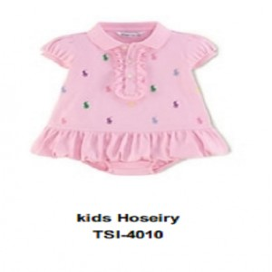Kids Hosiery Frock with attached bodysuit  Pink TSI 4010