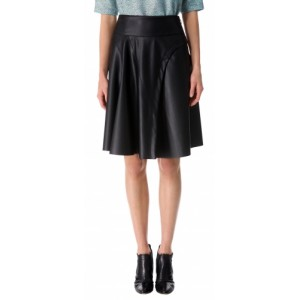 Beautiful Ladies Leather Skirt for Office  TSI 2009
