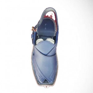 Gent balouchi chappal traditional Hand stitched Blue GHZ 7