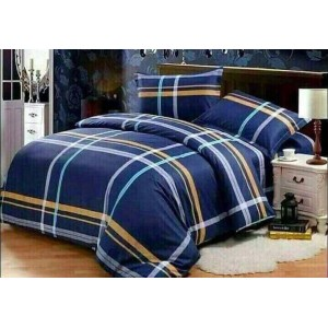 Luxurious 4 Piece Bed Set with Duvet Cover Fitted Sheet  AQF-0001