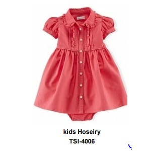 Girls Summer casual Frok with attached bodysuit TSI 4006
