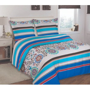100% Cotton Satin Double Bed sheet+Duvet Cover With Two Pillow Cover AIT-10061