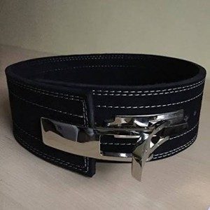 Leather Gym Weight Lifting Belt with Wrist Straps MLB 0143