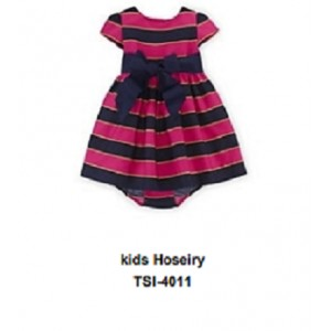 Kids Hosiery Frock with attached bodysuit TSI 4011