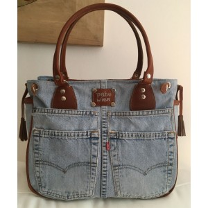 Leather & Jeans  Shoulder Hand bag BSB-1033