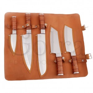 Custom Made 1095 Steel 5-Pcs Kitchen Chef Knives Set GT-5006