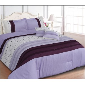 100% Cotton Satin Super King Bed sheet+Duvet Cover With Two Pillow Cover AIT-10044
