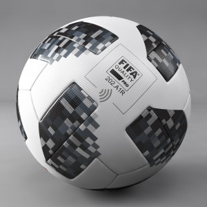 Telstar 18 (BLACK+WHITE) Edition 100% Thermal Molded Football PE-521