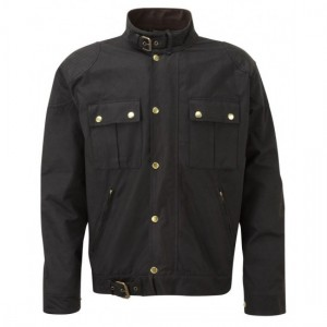 Dark Brown Til stock wax cotton motorcycle jacket DR-002