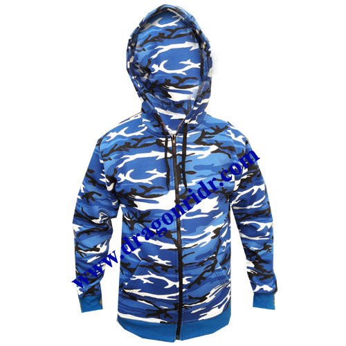 Blue Biker Hoodies  DRH- 1714