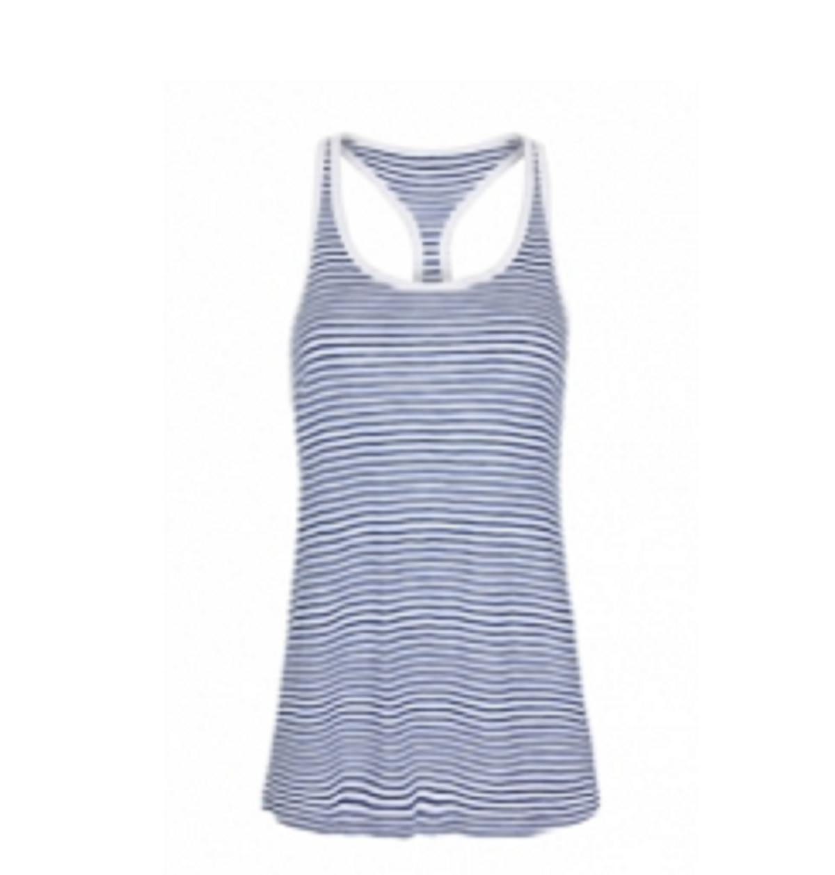 Women's  Fearless Tank White & Blue  TSI­3101