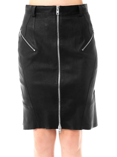 Beautiful Ladies Leather Skirt for Office  TSI 2001