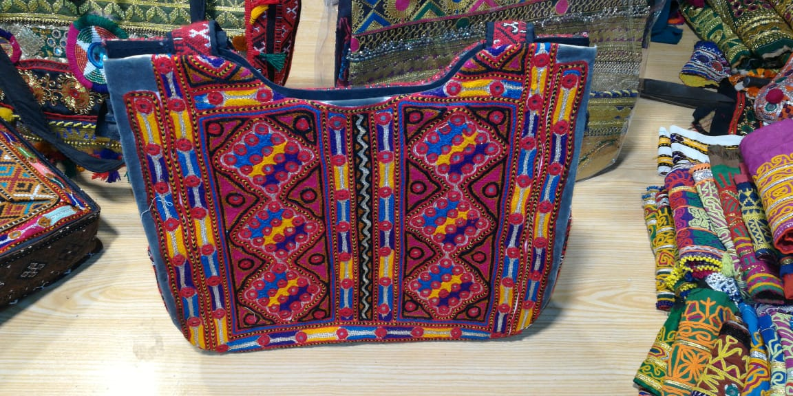 Handmade Embroidered Multi Color Shoulder bag for women with Classical & Traditional