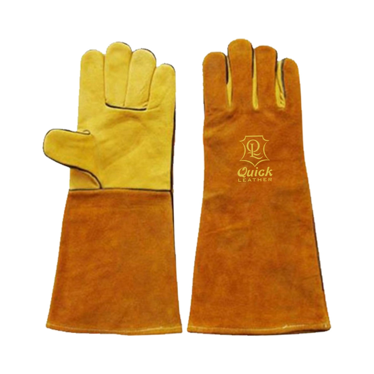 Welding gloves are excellent for use when welding in dry and oily conditions QL 209
