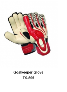 Goalkeeper Gloves with Double Wrist Protection Black Model No. TSI TSI 605