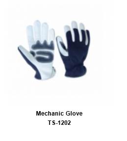Mechanic Flex Grip Work Gloves, Shrink Resistant, Improved Dexterity, Tough, Stretchable, Excellent Grip TSI 1202