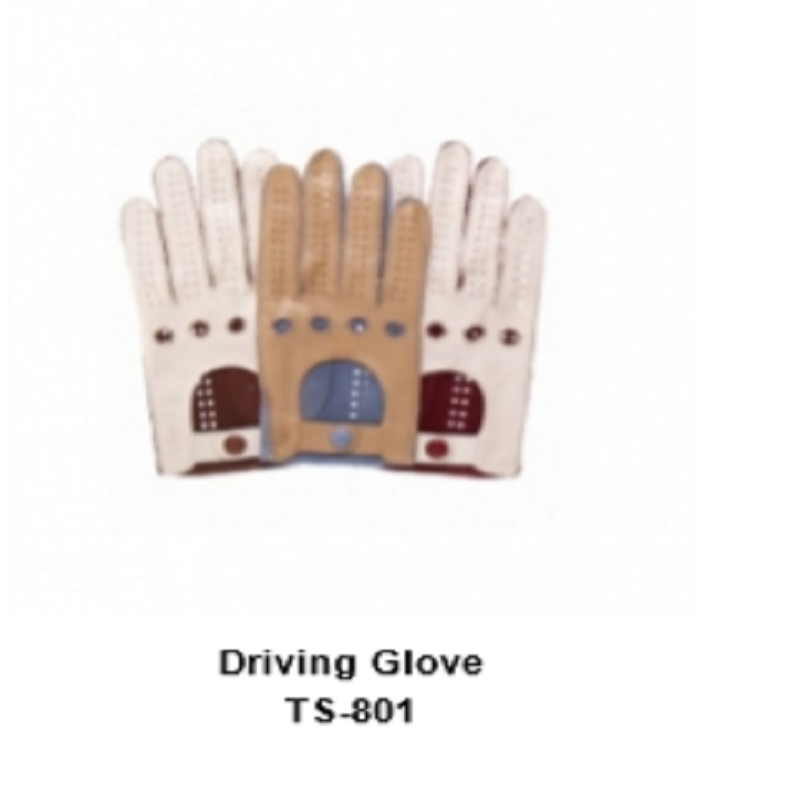 Leather Men's Basic Driving Gloves Model No. TSI 801