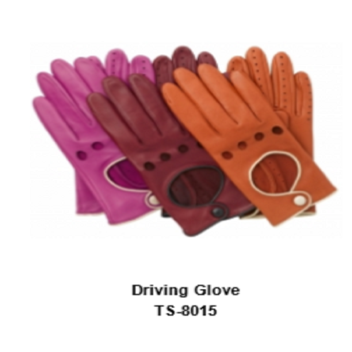 Leather Men's Fashion Driving Gloves Model No. TSI 8015