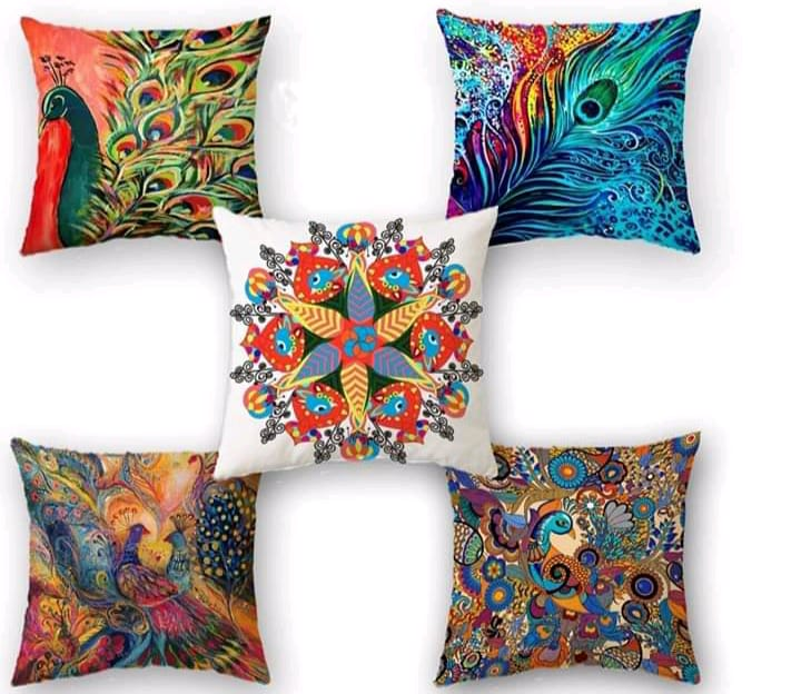 Digital Print Cushion Cover 100% Cotton Satin AIT-008