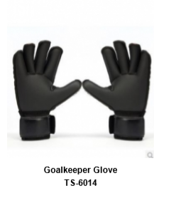 Goalkeeper Gloves with Double Wrist Protection Black Model No. TSI 6014