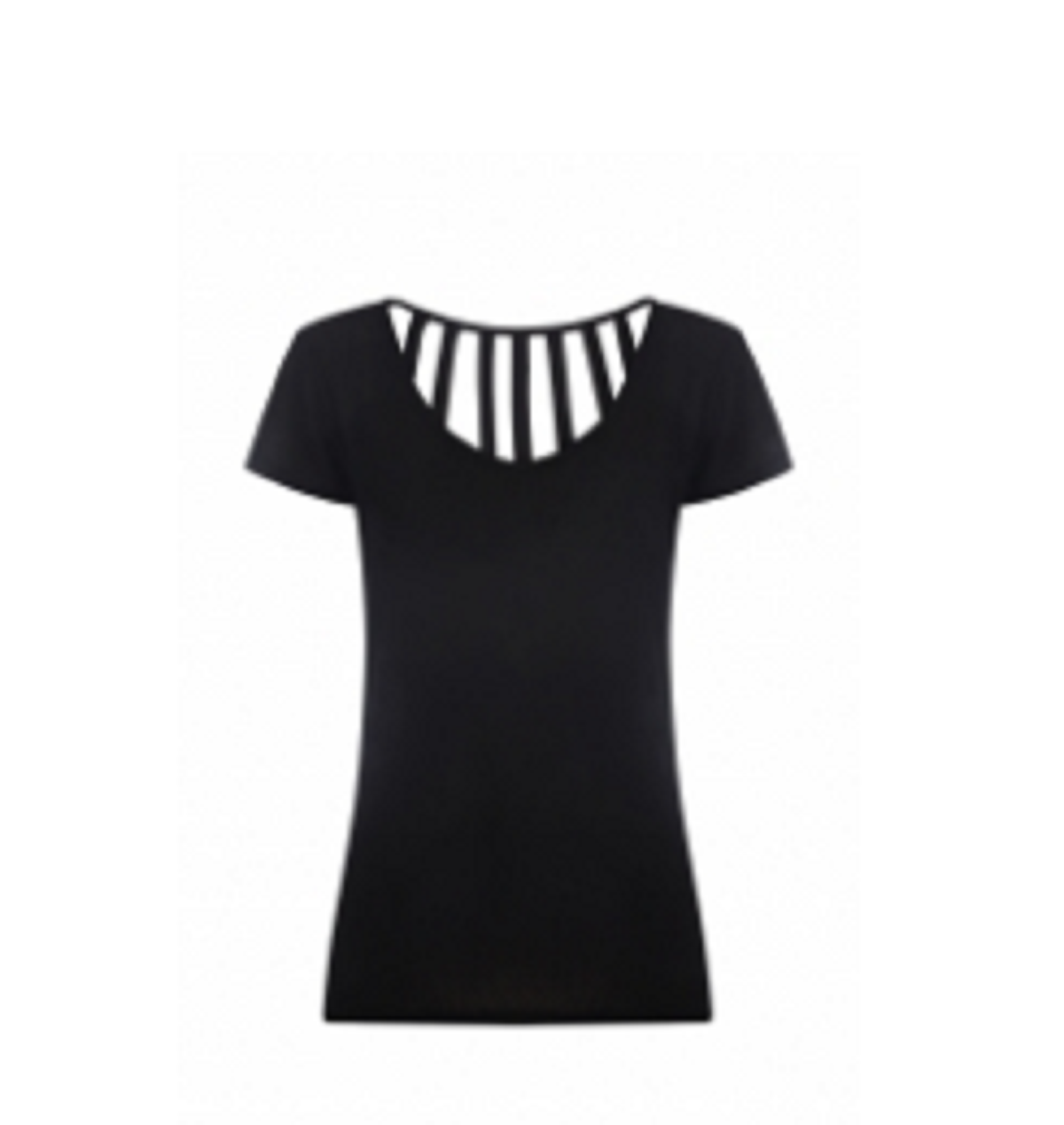Ladies  Sports Tops Black  TSI­-3407