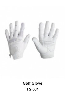 Men's Golf Gloves White Model No.TSI 504