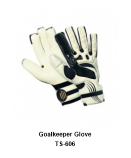 Goalkeeper Gloves with Double Wrist Protection Black Model No. TSI TSI 606