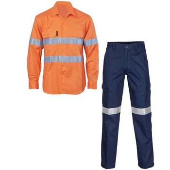 Industrial workwear safety working uniform Full Set FZI-604
