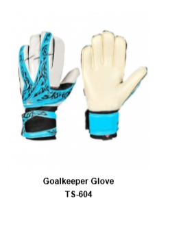 Goalkeeper Gloves with Double Wrist Protection Black Model No. TSI TSI 604