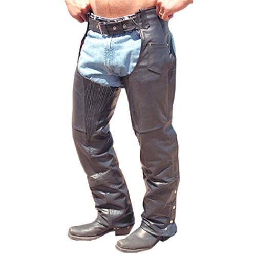 Motorbike Leather Chaps DRC-801