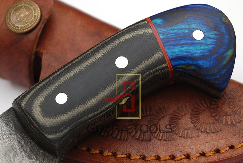 Custom Made 1095 &4340 Steel Skinner Hunting Knife With Amazing File Work On Blade GT-4327