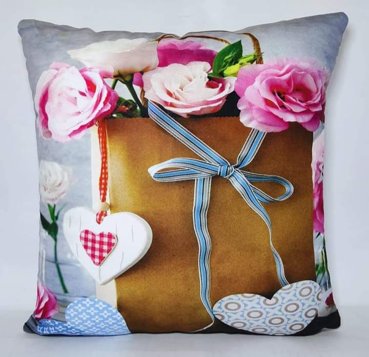 Digital Print Cushion Cover 100% Cotton Satin AIT-005