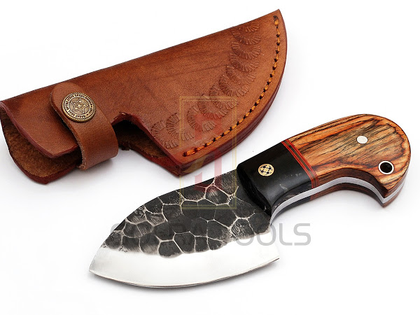 Custom Made 1095 Steel Hunting Knife With Stunning File Work On The Blade  GT--4351