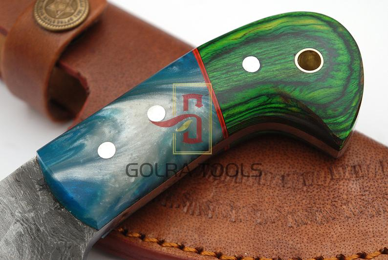 Custom Made 1095 & 4340 Steel Skinner Hunting Knife With Amazing File Work On Blade GT-4313