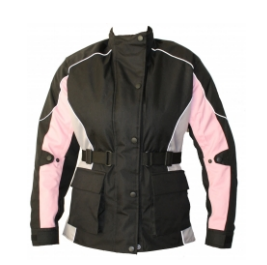 Men Cordura Leather Jacket TSI-­1712