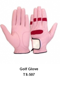 Men's Golf Gloves Pink  Model No.TSI 507