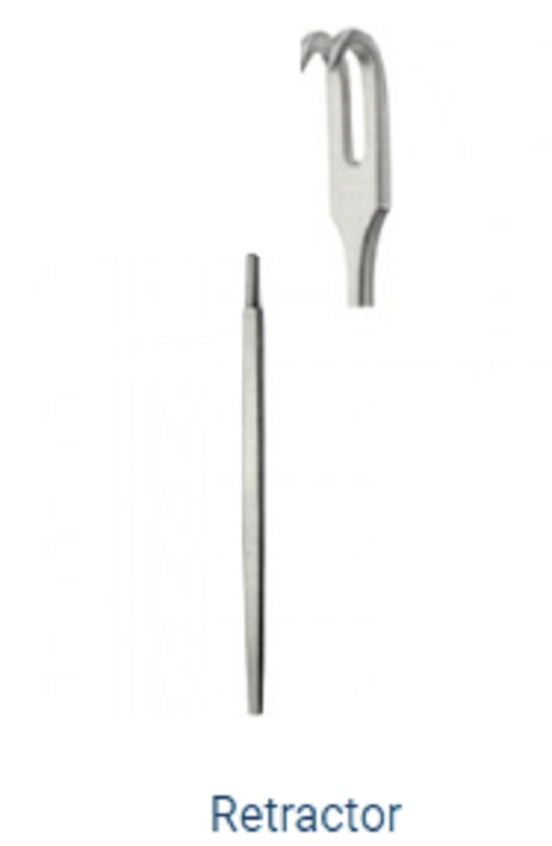 Retractor   Stainless Steel  MS-63-167