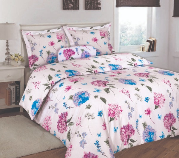 100% Cotton Satin Double Bed sheet+Duvet Cover With Two Pillow Cover AIT-10069