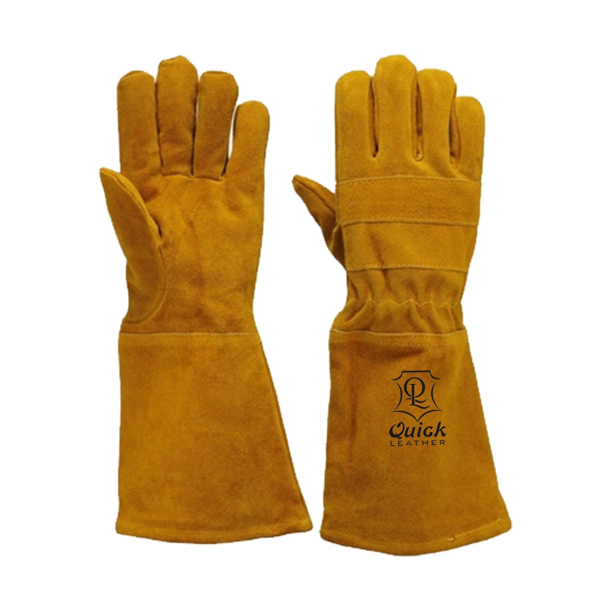 Welding gloves are excellent for use when welding in dry and oily conditions QL 212