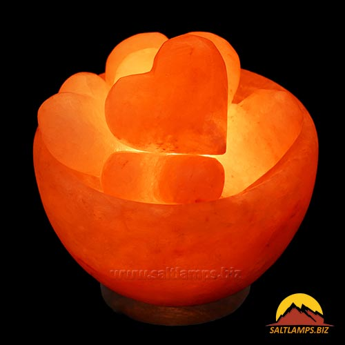 Himalayan Salt Lamp Bowl with Balls Hand Carved Taly SL-40