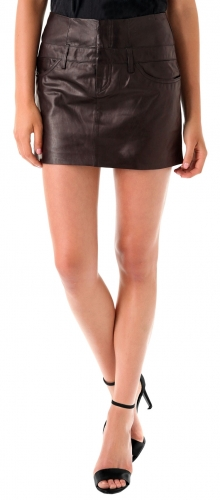 Beautiful Ladies Leather Skirt for Office  TSI 2006