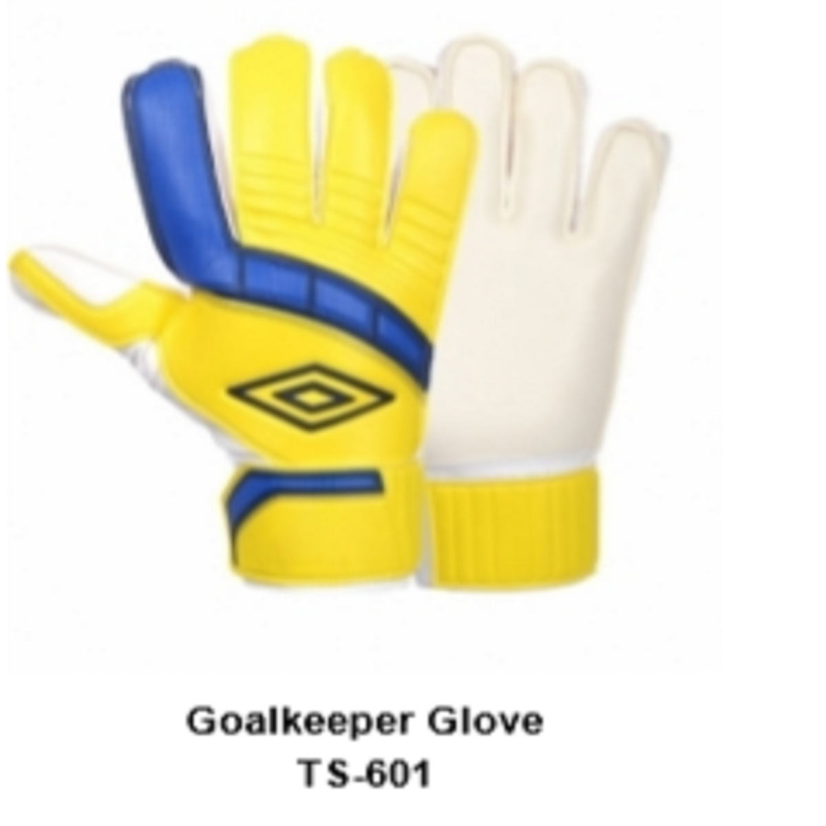 Goalkeeper Gloves with Double Wrist Protection  Yellow Model No. TSI 601
