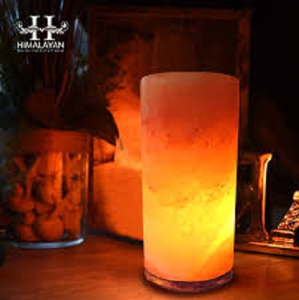 Natural Himalayan Cylinder Salt Lamp Model No. SL 06