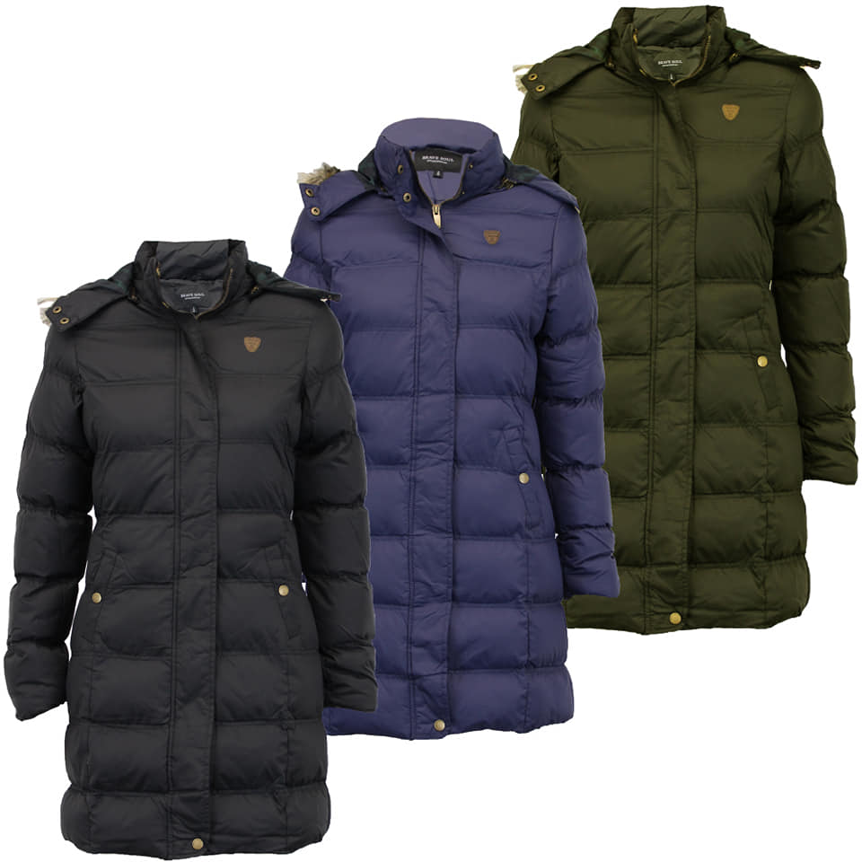 Long Puffer Jackets for Women &  Men TR 138